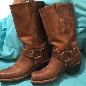 Frye leather Moto riding boots